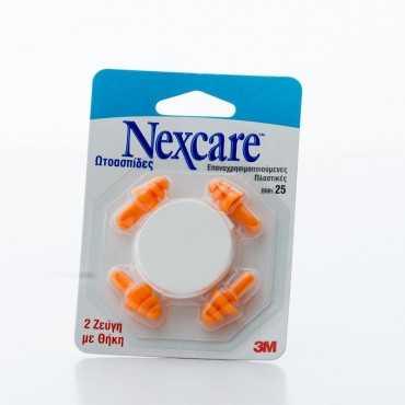 3M Nexcare Ear Plugs, 2 Pairs+Case