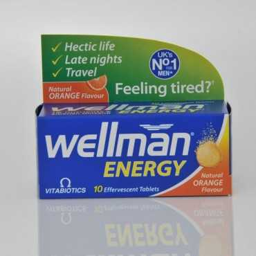 VITABIOTICS Wellman Energy Orange Fizz 10 Tablets