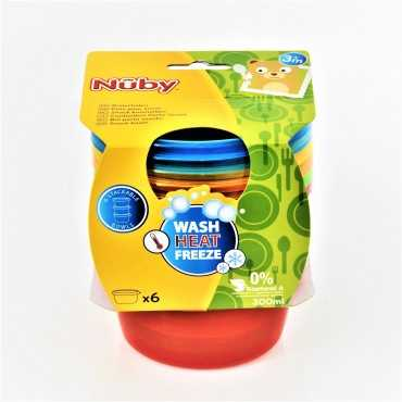 NUBY 6 PACK BOWL WITH LID 3+