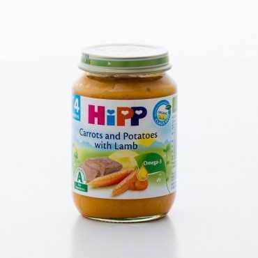 HiPP Carrots and Potatoes with Lamb, BIO, 190g