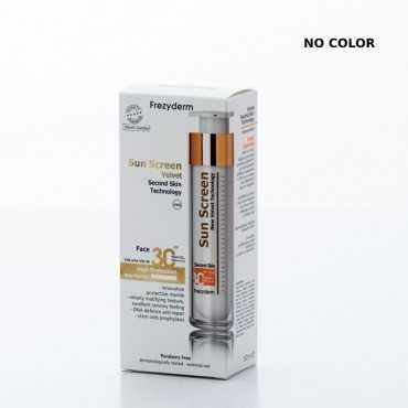 Frezyderm Sun Screen Velvet Face Cream SPF30, 50ml (NO COLOR)